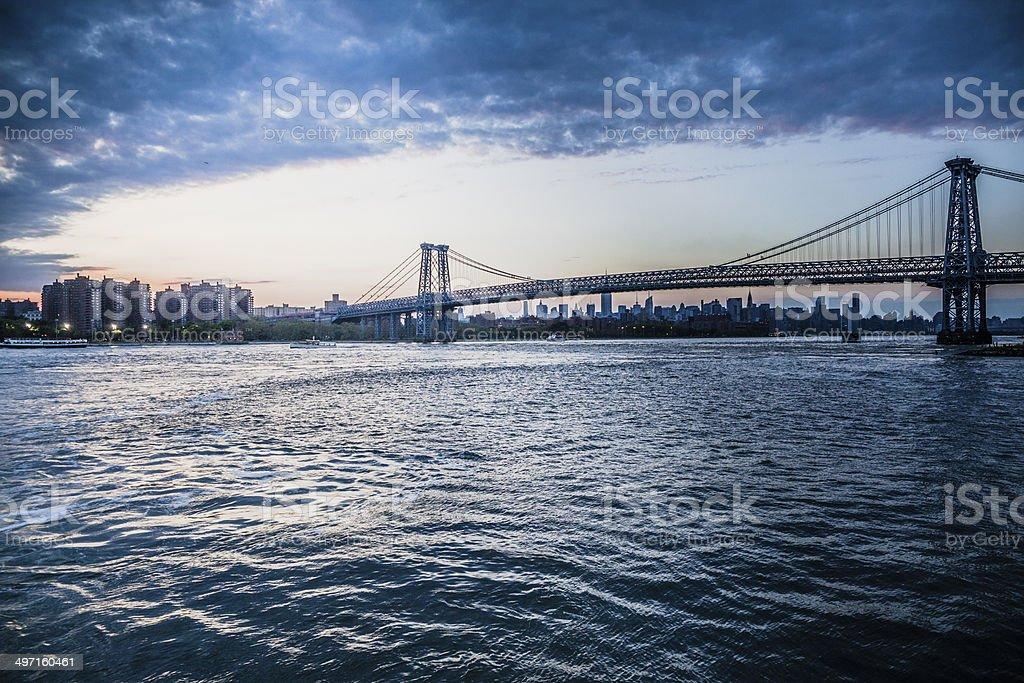 Manhattan skyline from the ferry stock photo
