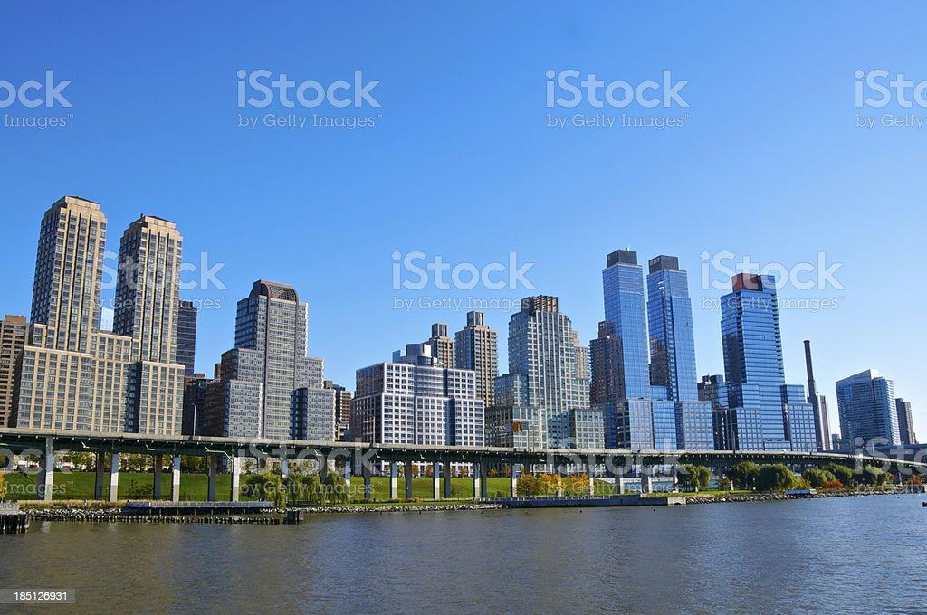 Manhattan skyline, High Rise architecture in New York City stock photo