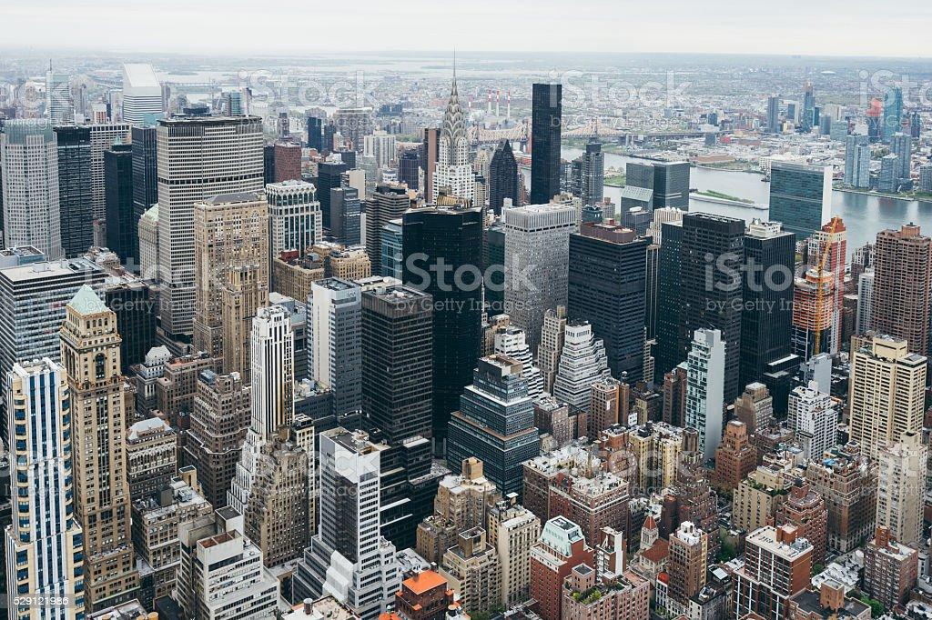 Manhattan Skyline In Midtown stock photo