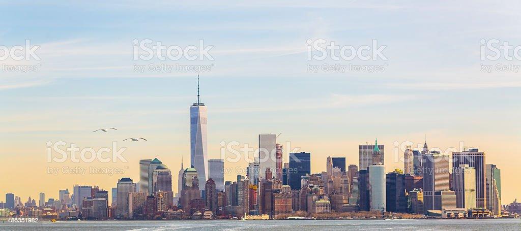 Manhattan skyline, New York City stock photo