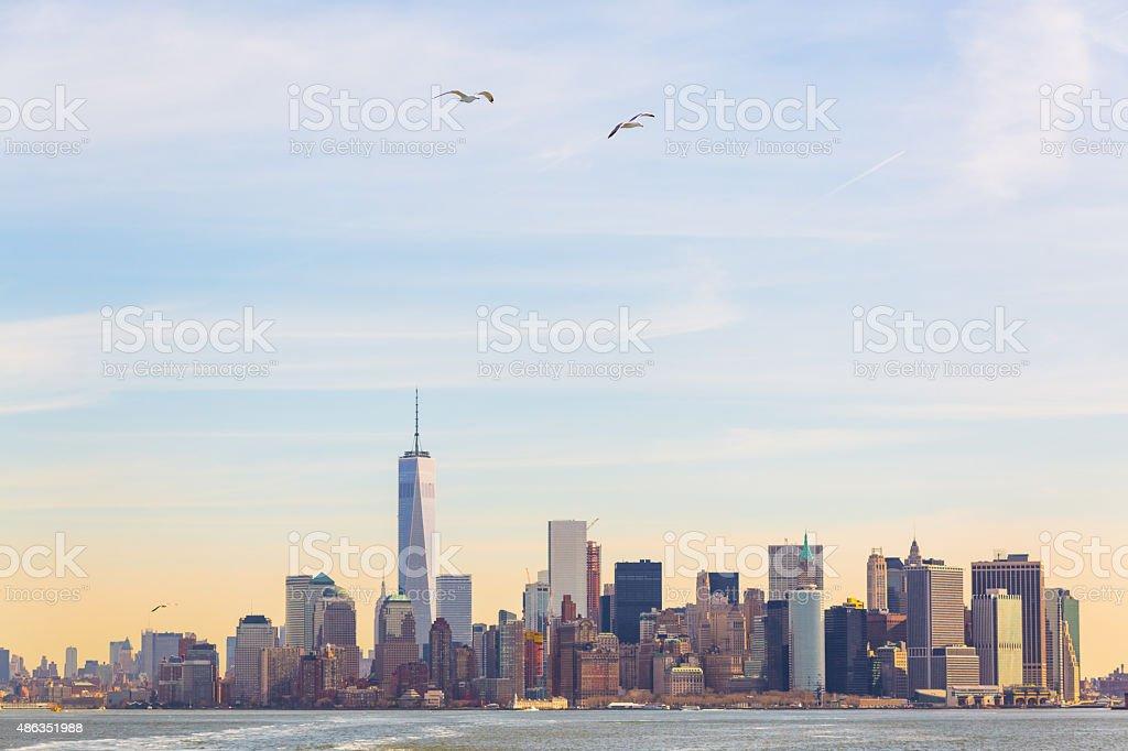 Manhattan skyline, New York City stock photo