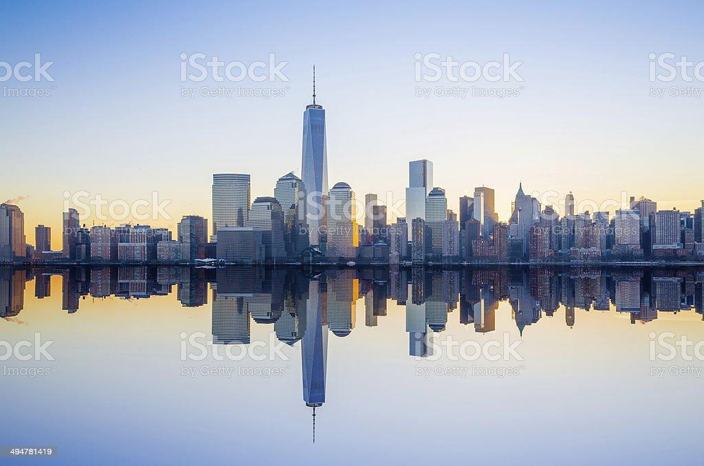 Manhattan Skyline NYC stock photo