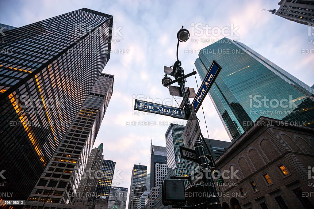 Manhattan skyline, NYC, USA stock photo