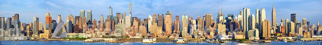 Manhattan skyline panorama stock photo
