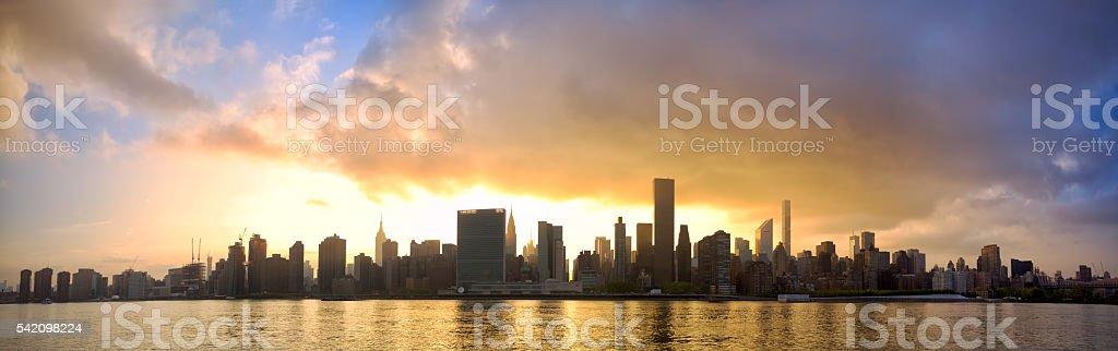Manhattan skyline panorama stock photo
