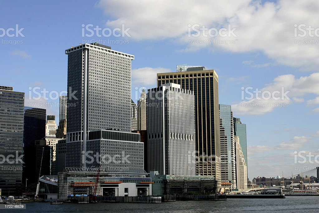 Manhattan skyline. stock photo