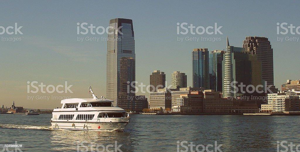 Manhattan skyline stock photo
