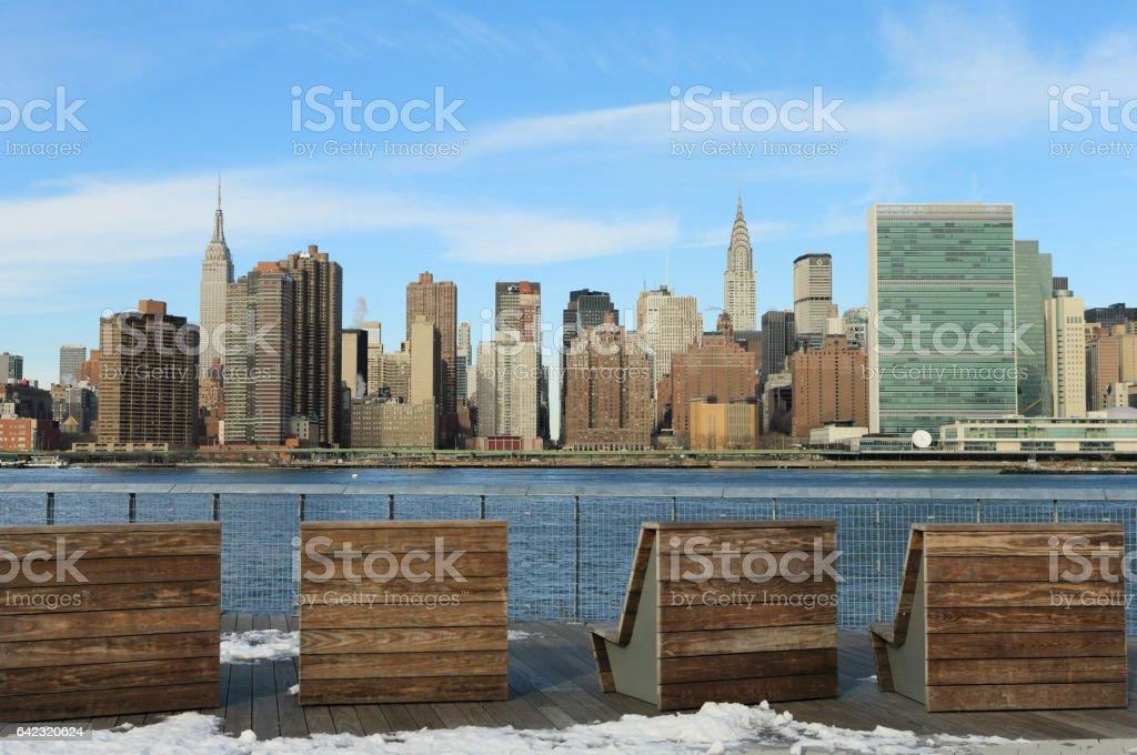 Manhattan skyline view from Long island city stock photo