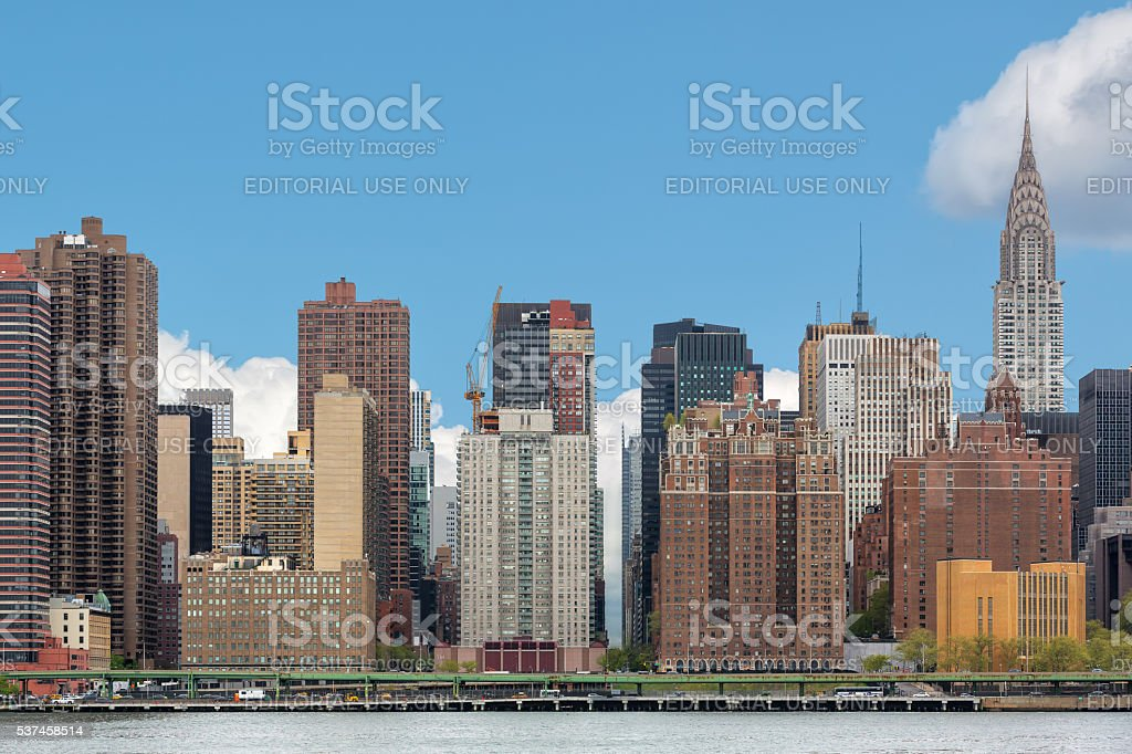 Manhattan skyline with Chrysler Building stock photo