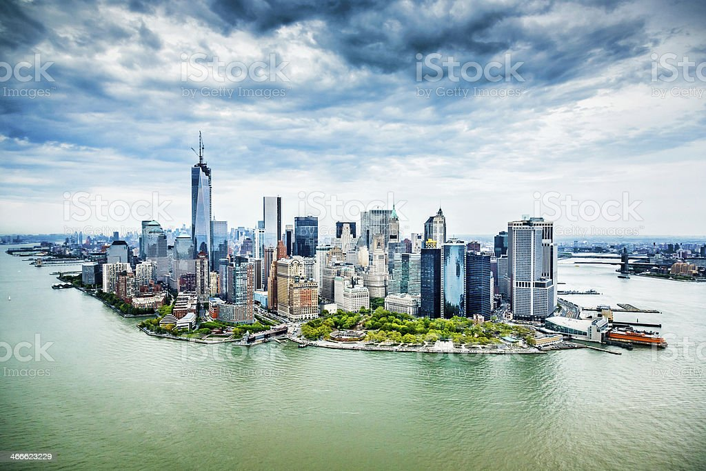 Manhattan skyline with One World Trade Center, New York stock photo