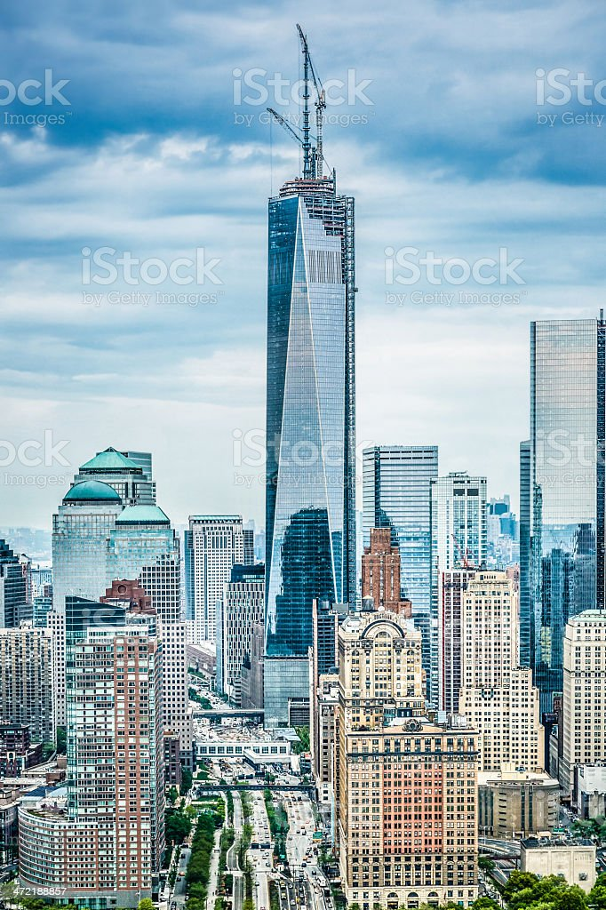 Manhattan skyline with One World Trade Center, New York royalty-free stock photo