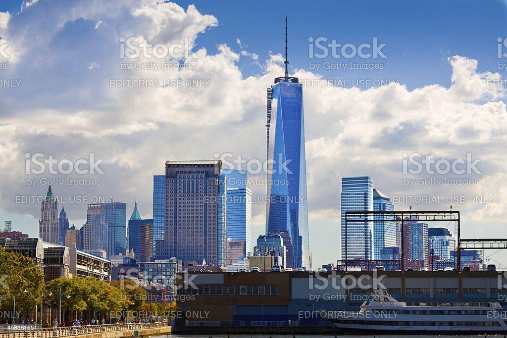 Manhattan skyline with World Trade Center, New York. royalty-free stock photo