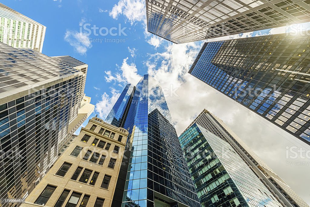 Manhattan Skyscapers Office Buildings New York royalty-free stock photo