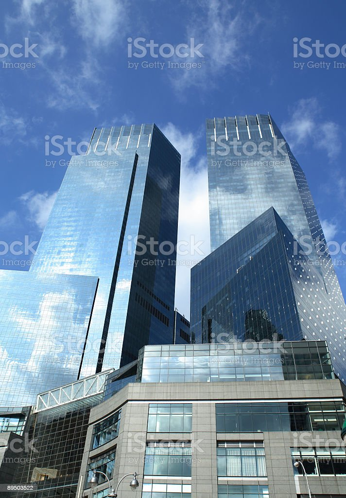 Manhattan skyscraper building royalty-free stock photo