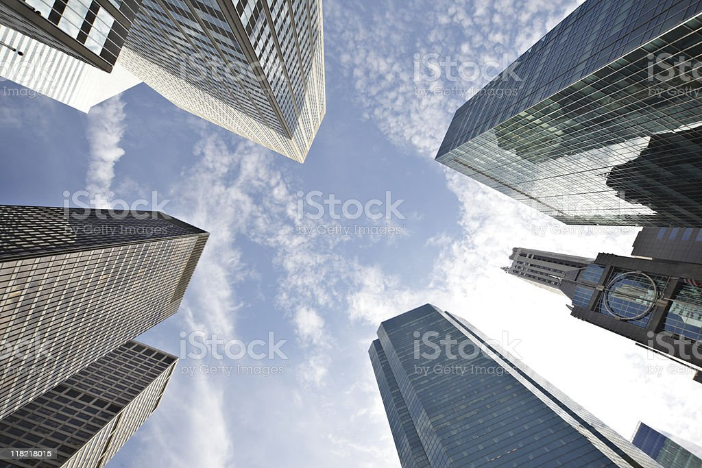 manhattan skyscraper royalty-free stock photo