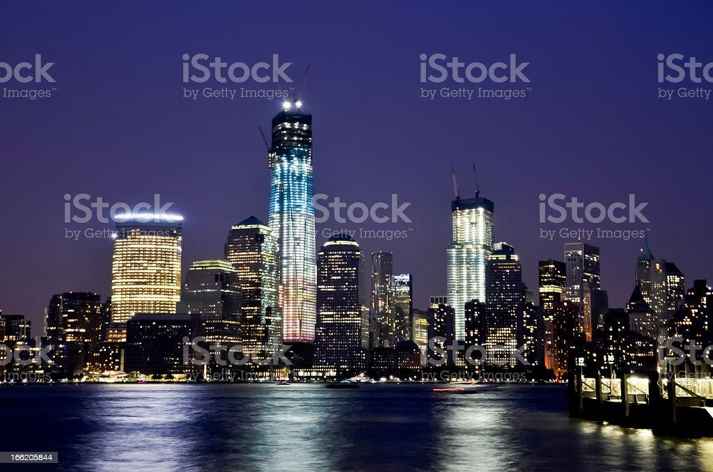 Manhattan skyskrapers royalty-free stock photo