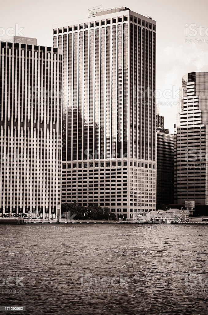 Manhattan south east district royalty-free stock photo