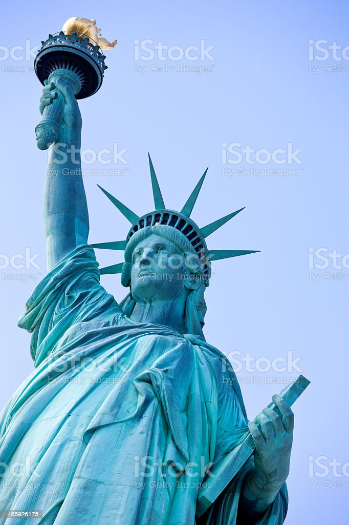 Manhattan Statue of Liberty New York City royalty-free stock photo