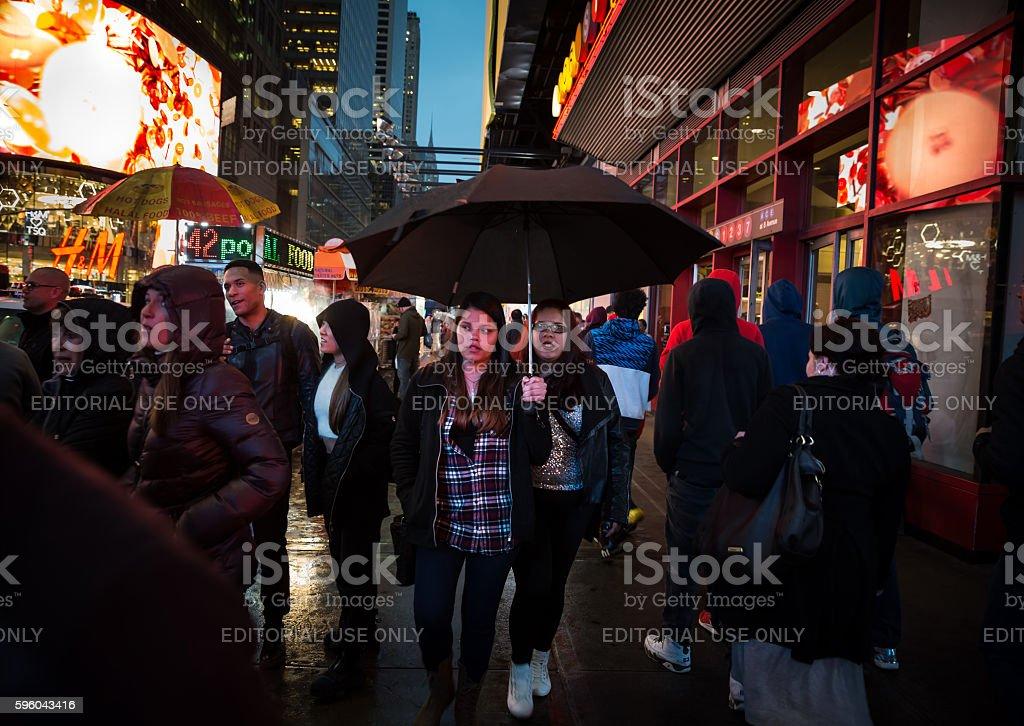 Manhattan street scene, NYC stock photo