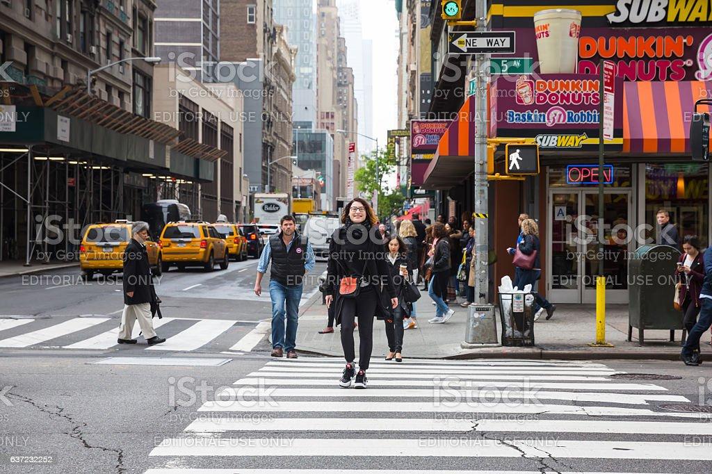 Manhattan street scene. stock photo