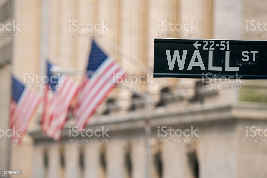 Manhattan Street Sign stock photo