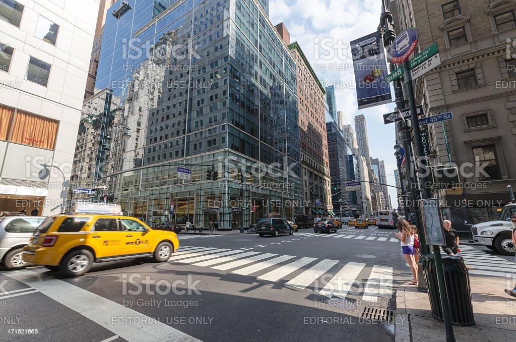 Manhattan streets stock photo