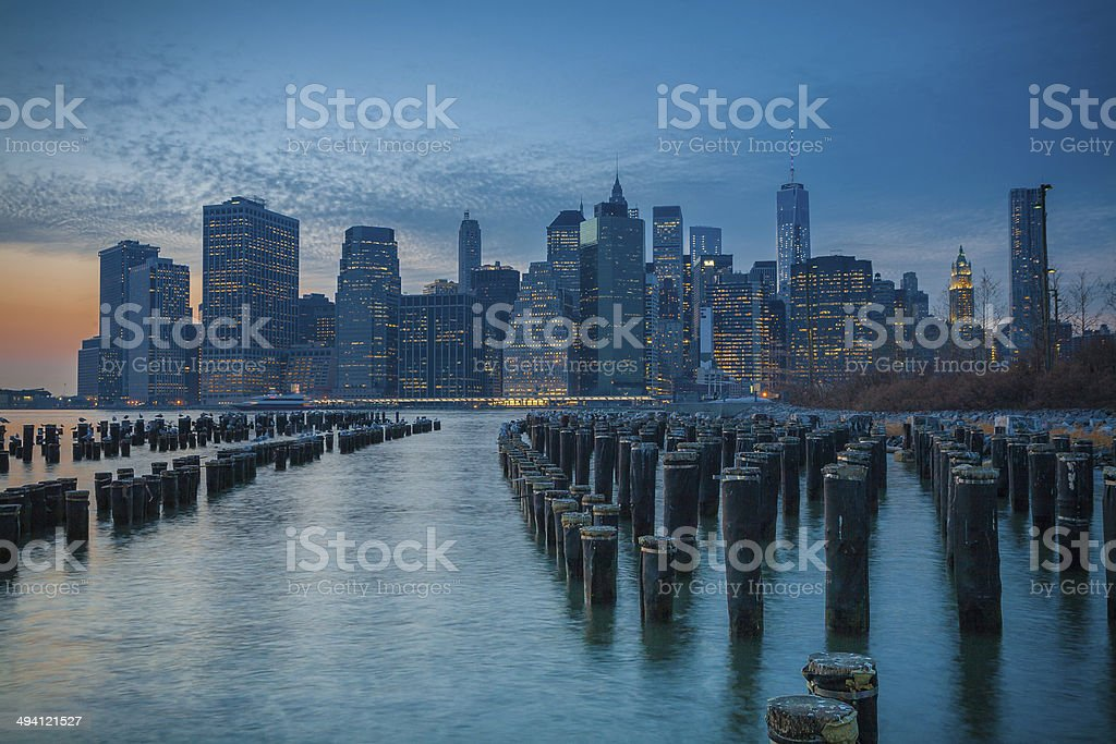 Manhattan Sunset royalty-free stock photo