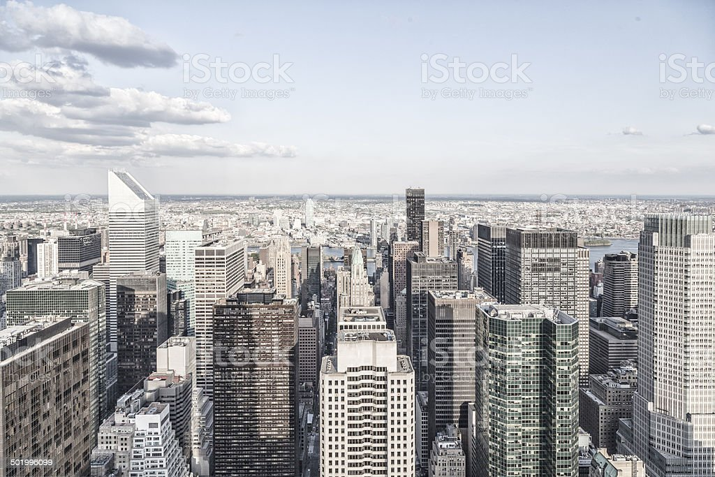 Manhattan towers royalty-free stock photo