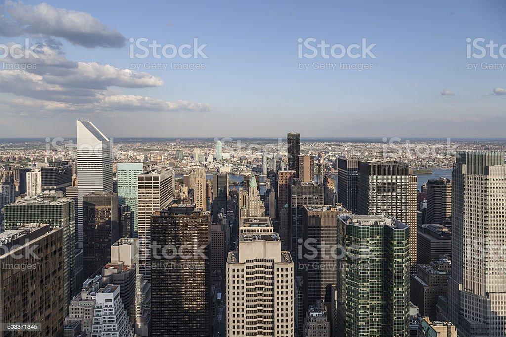 Manhattan towers stock photo