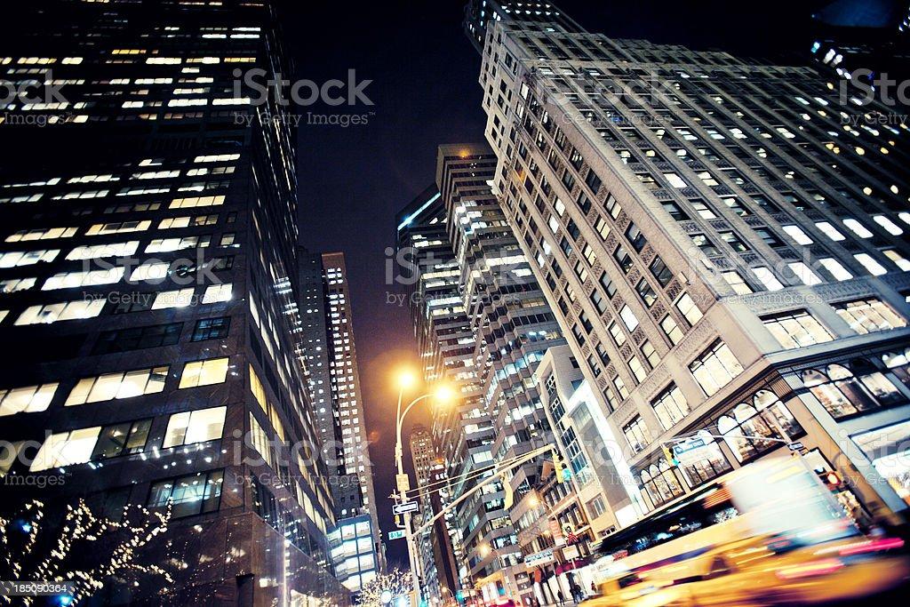 Manhattan traffic. stock photo