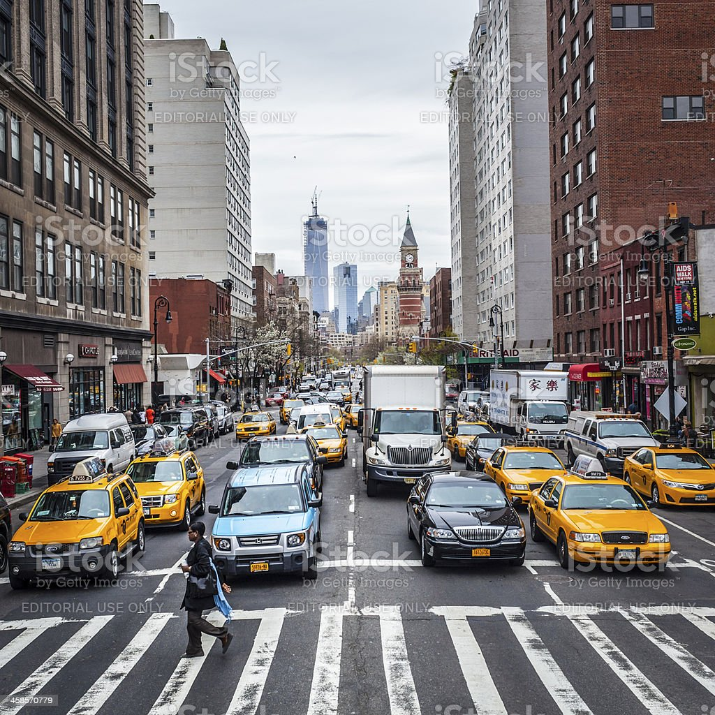 Manhattan Traffic royalty-free stock photo