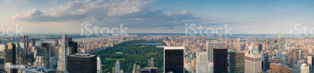 Manhattan Upper East West Side panorama royalty-free stock photo