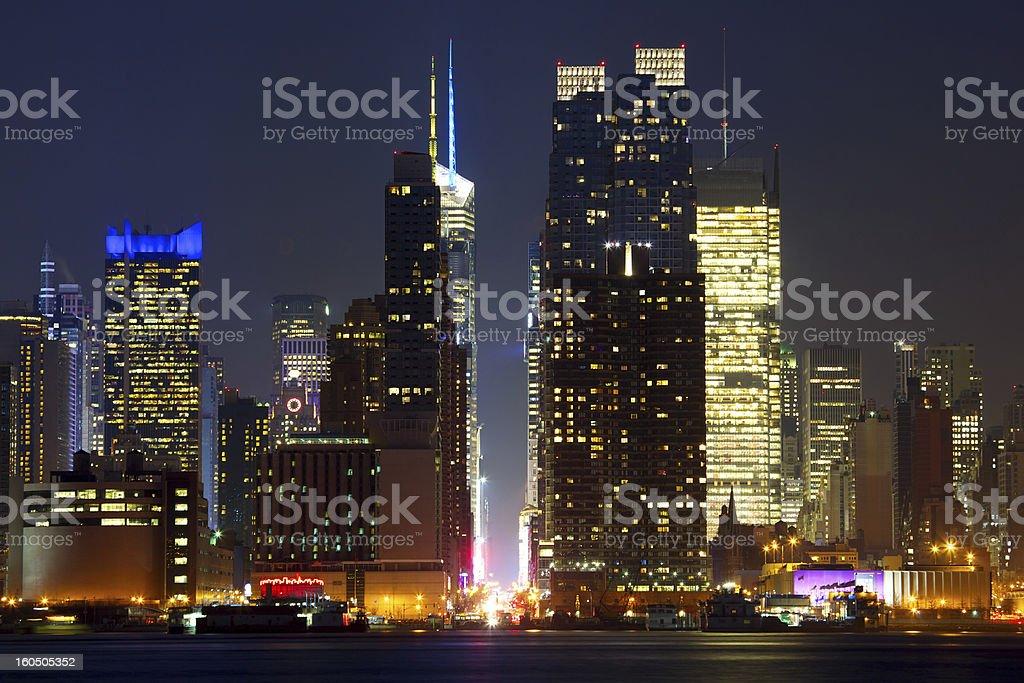 Manhattan urban skyscrapers royalty-free stock photo