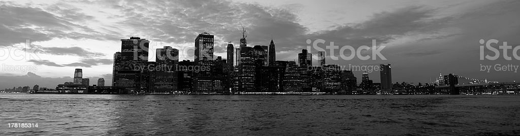 Manhattan view from a Brooklyn, New York, USA royalty-free stock photo