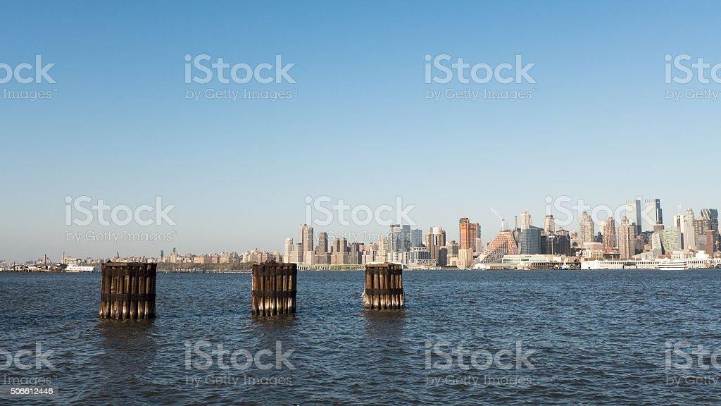 Manhattan view from Edgewater, NJ stock photo