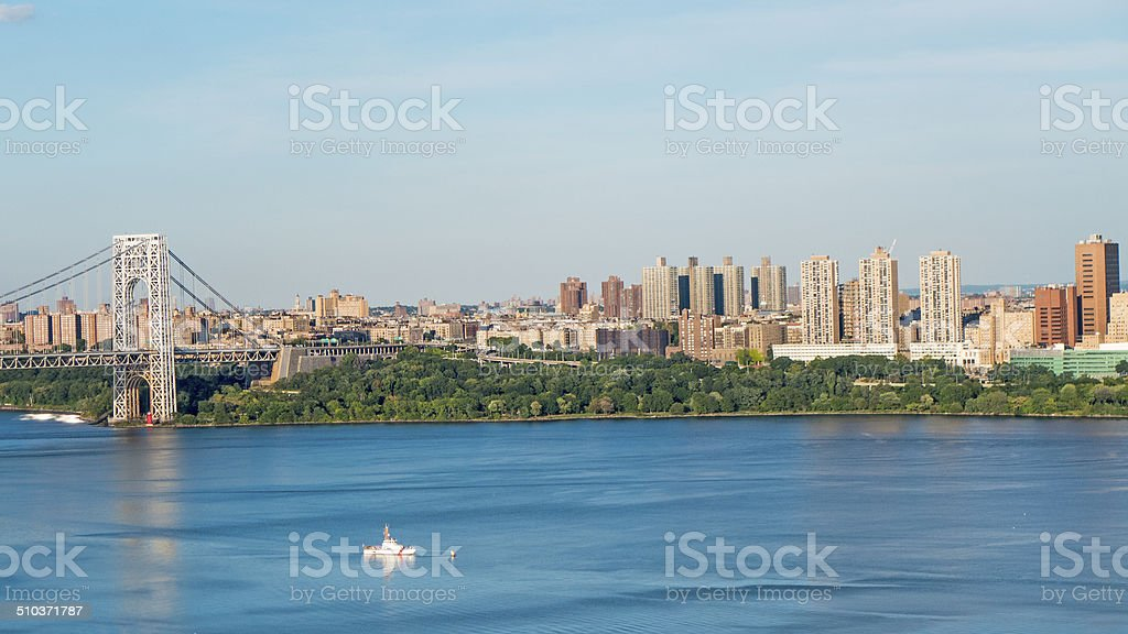 Manhattan View from New Jersey stock photo