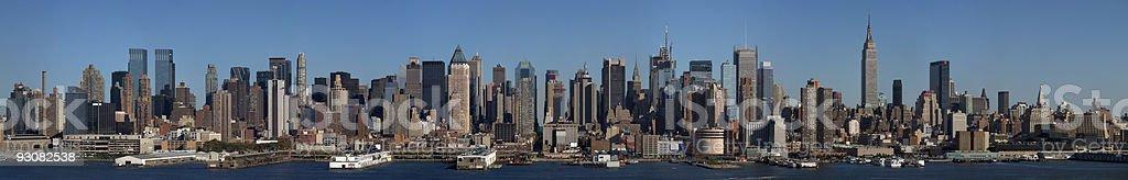 Manhattan View from Weehawken NJ stock photo
