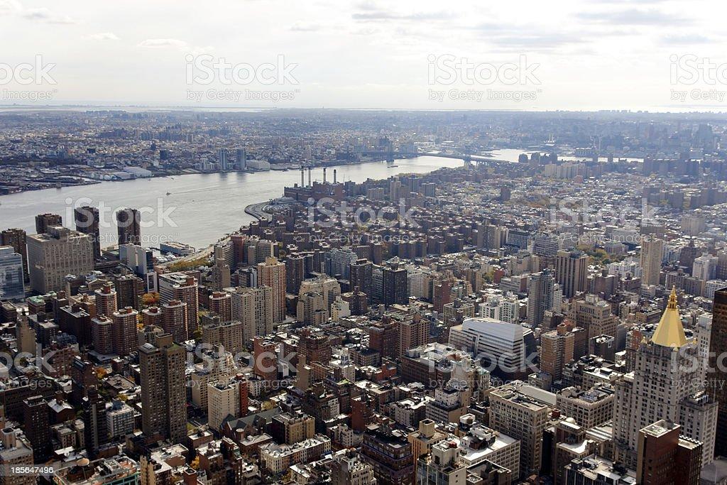 Manhattan View Towards Brooklyn stock photo
