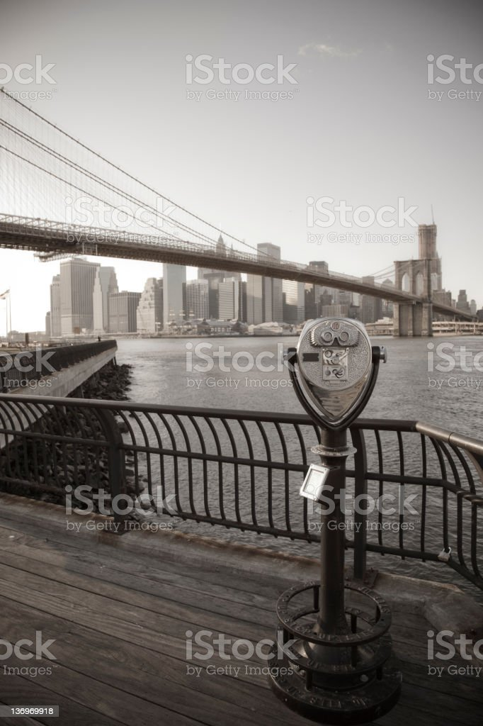 Manhattan vintage view royalty-free stock photo