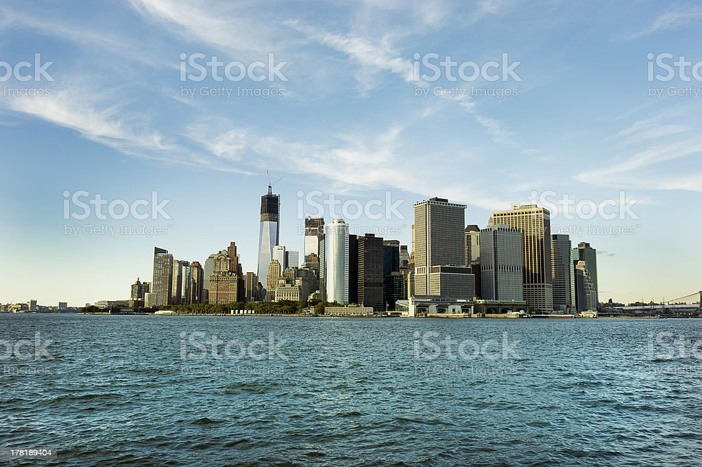 Manhattan - world's financial center royalty-free stock photo