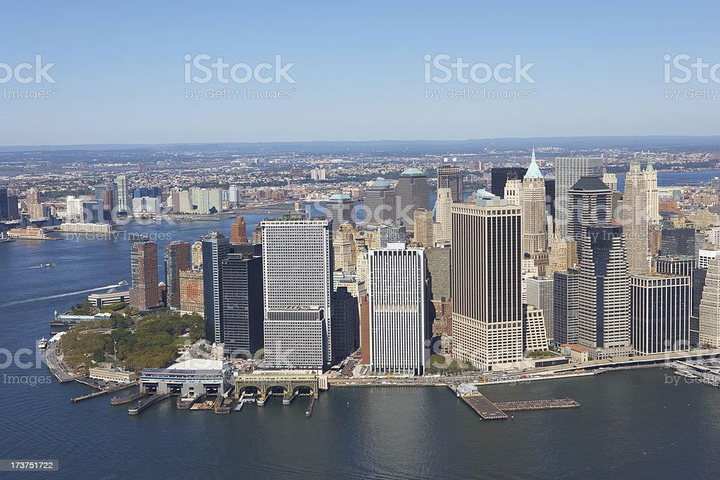 manhatten financial district royalty-free stock photo
