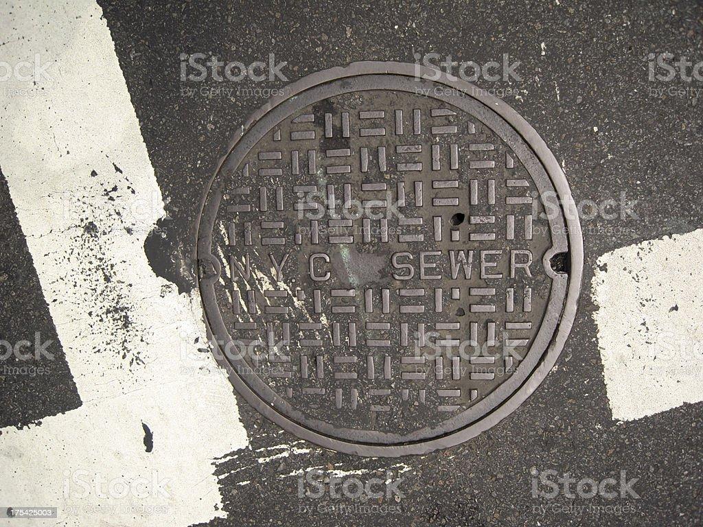 NYC Manhole Cover stock photo