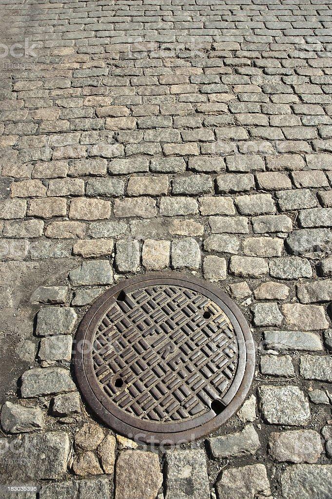 Manhole Cover royalty-free stock photo