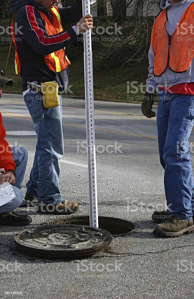 Manhole Work royalty-free stock photo