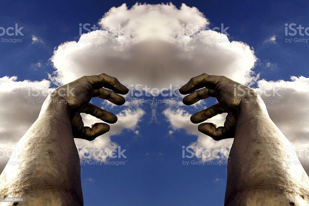 mani al cielo royalty-free stock photo