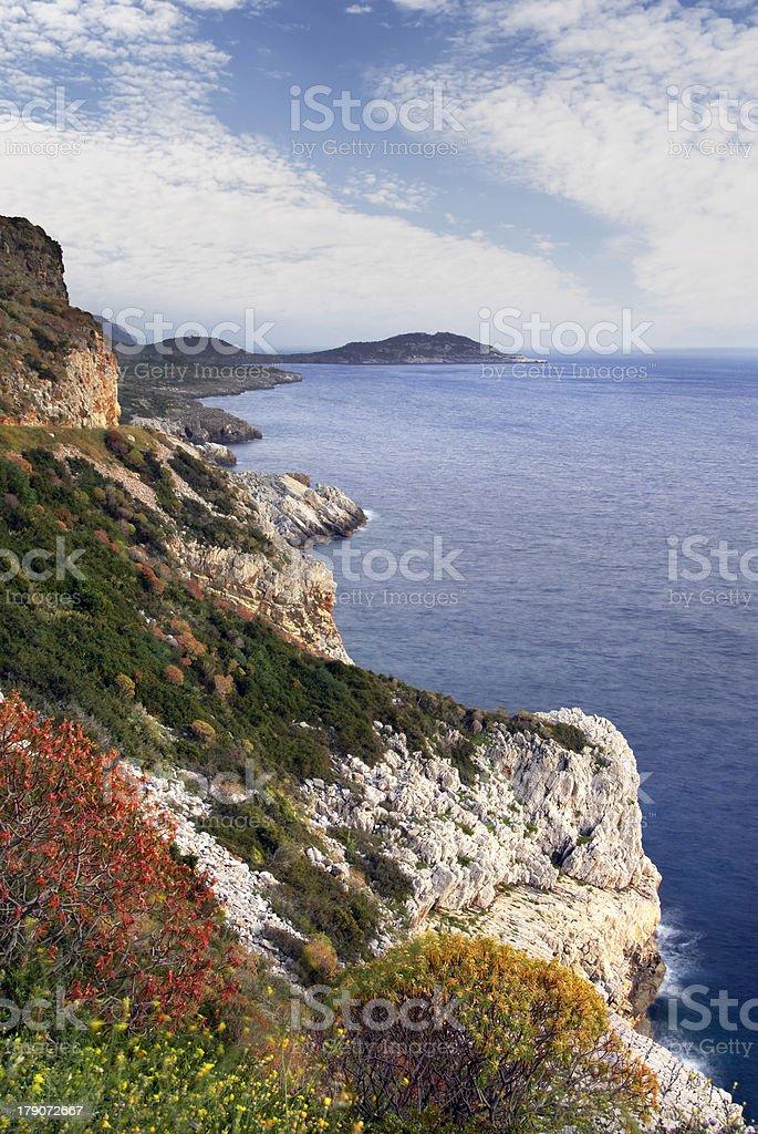 Mani peninsula, southern Greece stock photo
