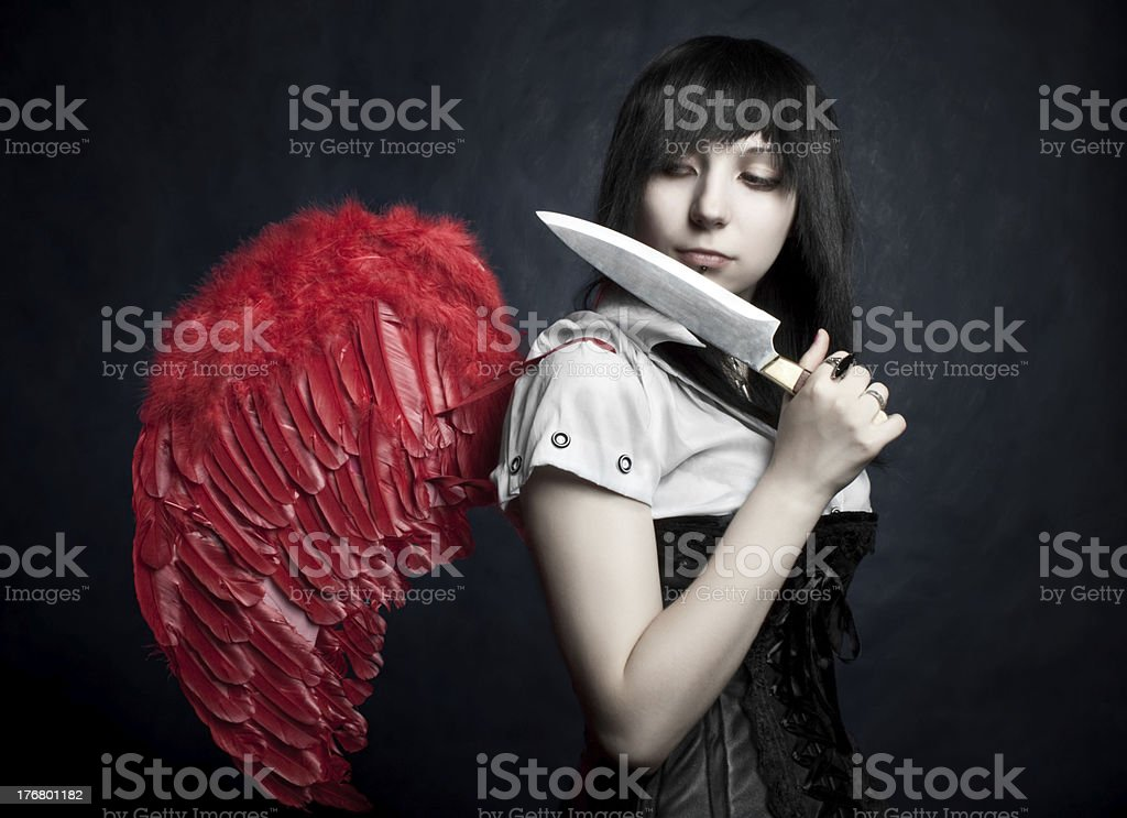 Maniac angel royalty-free stock photo