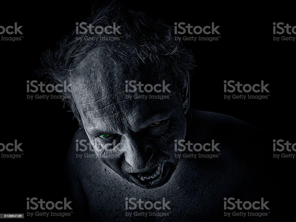 Maniac Vampire stock photo