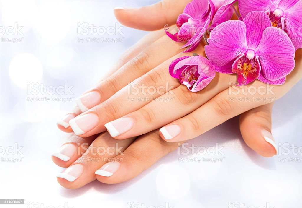 manicure and beauty treatment stock photo