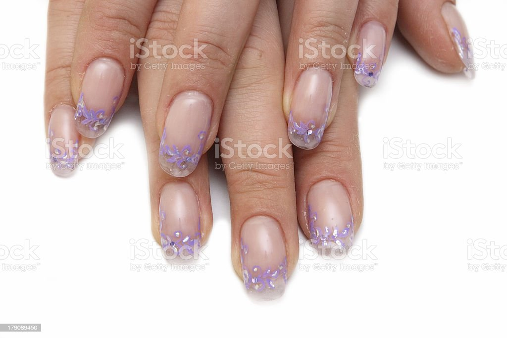 Manicure and design of nails, escalating royalty-free stock photo